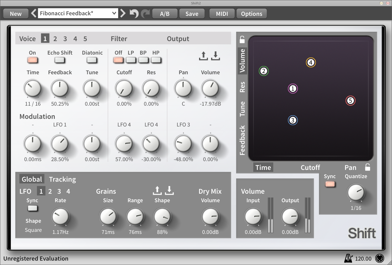 Loomer Shift Diatonic Pitch Shifter Delay Effect VST Audio