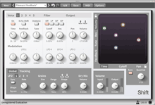 Shift, Diatonic Granular Pitch Shifter and Delay Effect, available for macOS, Windows, and Linux as a Standalone application, for Cubase, Sonar, FL Studio, or any host that supports Audio Units or VST Plugins, or RTAS for Pro Tools.