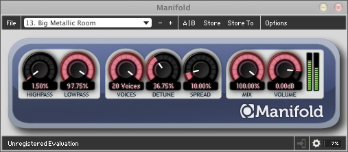 Manifold is a software audio modulation FX.