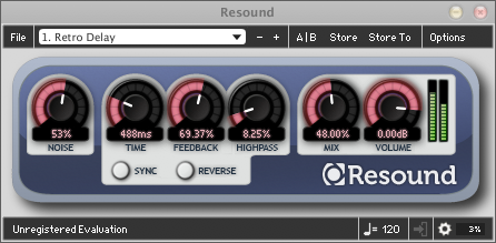 Vintage sounding software delay effect in AU, VST, RTAS formats.